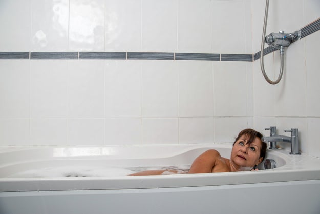 It all started with me bathing. Not really because I live in a tiny-ass NYC apartment...but in my head I'd like to embody this nice woman in a bath.