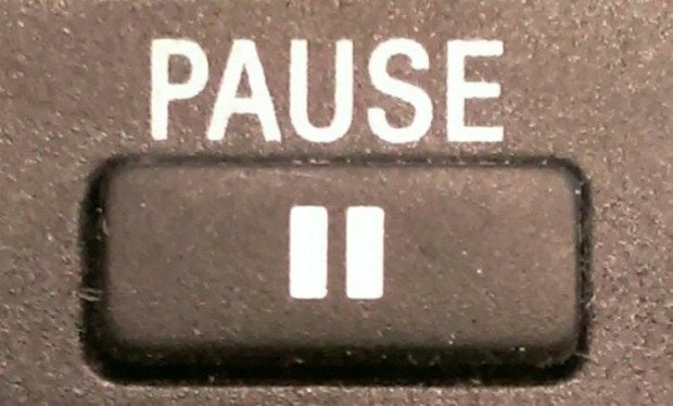 Also, you had a limited amount of time before the pause button would stop and the movie would continue playing.