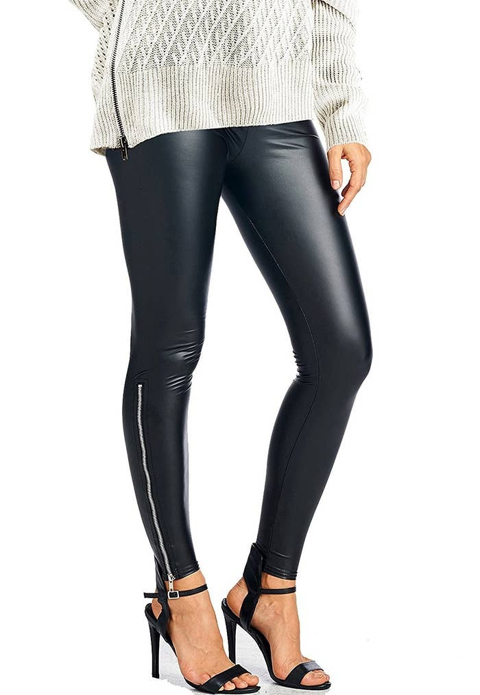 d5540485e71757 Faux leather leggings with stylish zippers so you never look *undone*  despite staying comfy.
