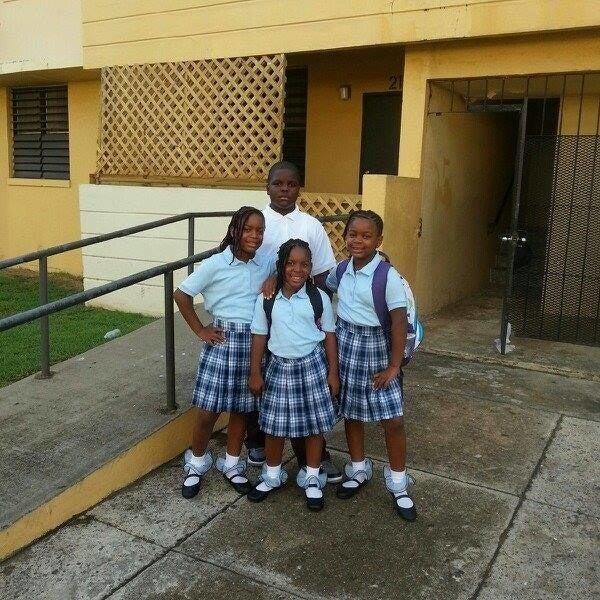 Cleo's four children before school.