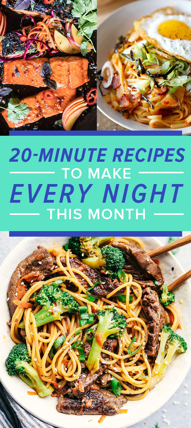 20-Minute Comfort Food Dinners To Make Every Night Of November