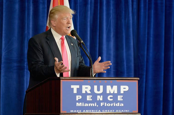Donald Trump at a news conference July 27, 2016, in Doral, Florida.