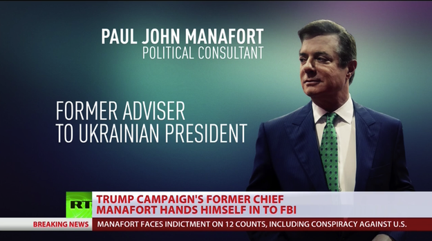 During its coverage of the news, Russian state-funded media outlets unanimously pointed the finger at Ukraine. Manafort and Gates worked for the Ukrainian government, and allegedly laundered millions of dollars they made in the process.