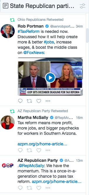 A sampling of state Republican Party tweets from Monday afternoon.