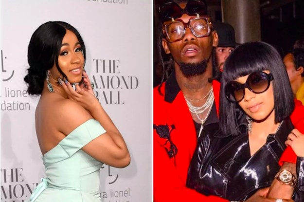 Cardi B Just Got A Giant New Offset Tattoo On Her Leg: Cardi B Just Got Engaged And The Ring Is So Big You Could