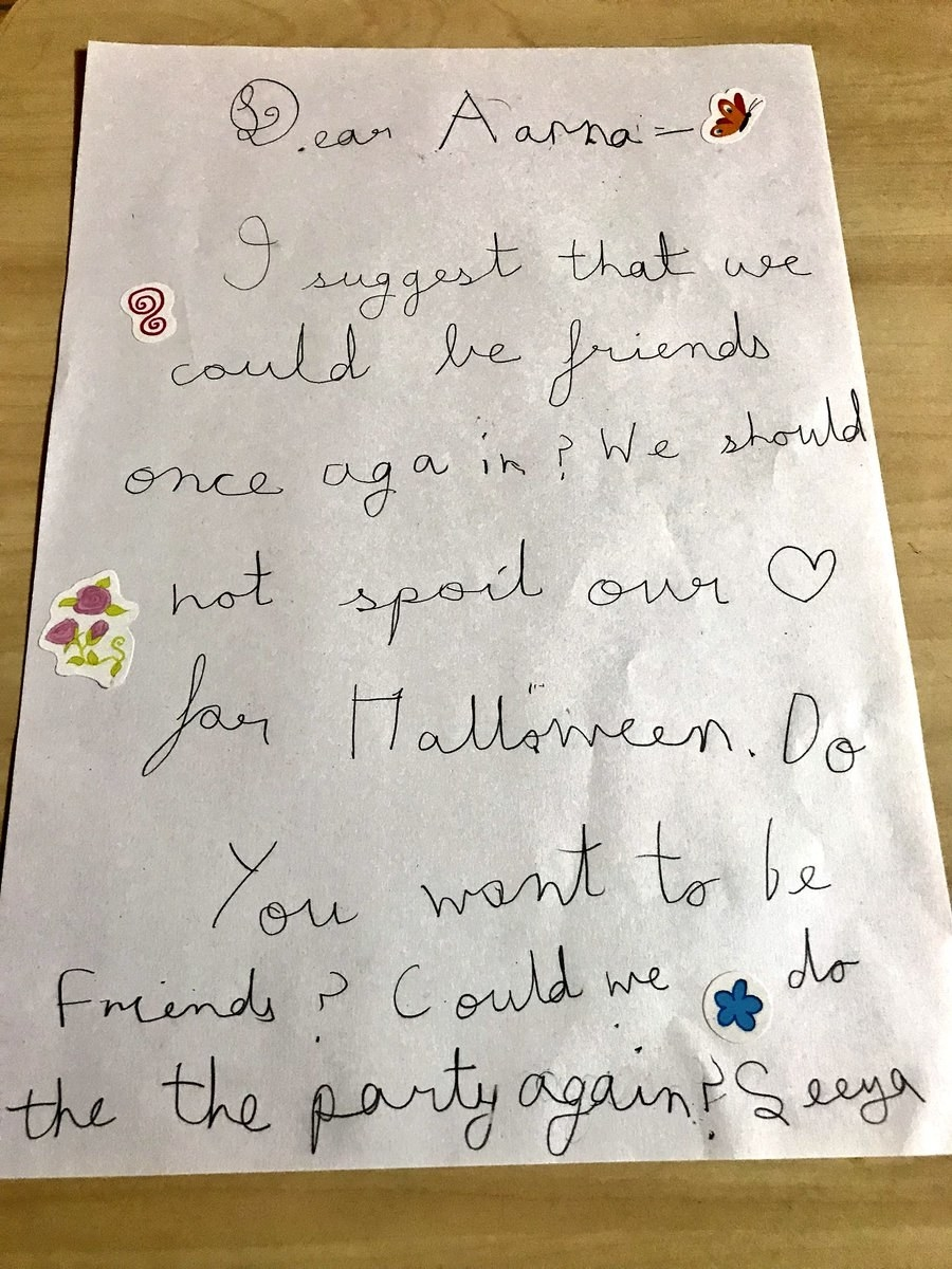 This Kids Pure AF Apology To Her Best Friend Is What You Need When