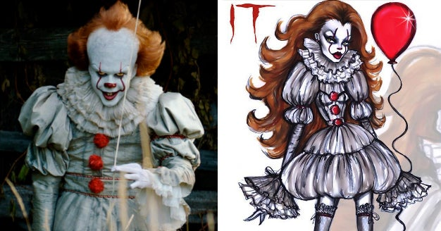 This Illustrator Is Turning Horror Movie Villains Into Runway Models