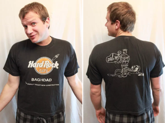 Then: Hard Rock Cafe T-shirts were collectors items.