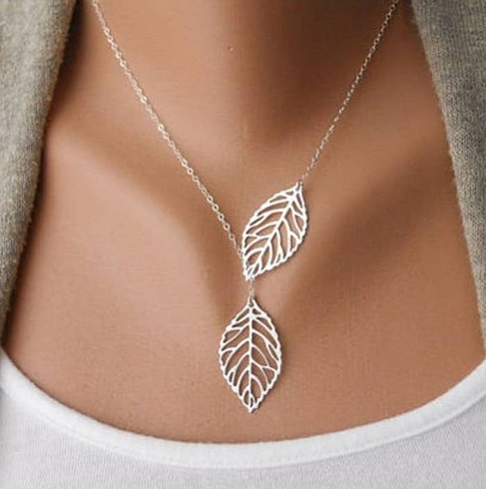 """Promising review: """"It looks beautiful! The metal is very thin and bends easily but it's pretty costume jewelry. I'm not expecting it to last long based on the cheap price, but so far, I've worn it about a dozen times and it's still bright silver!"""" —Kristin HGet it from Amazon for $2.69."""