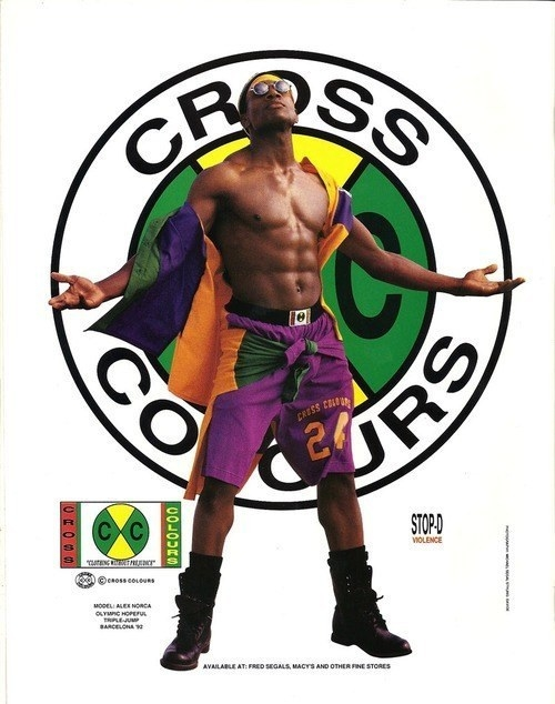 Then: Cross Colours was all about that pop of pigment.