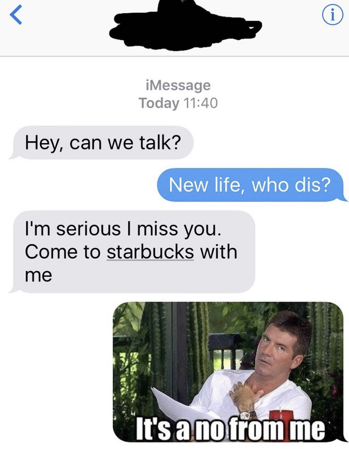 40+ responses to texts from exes that are absolutely savage.