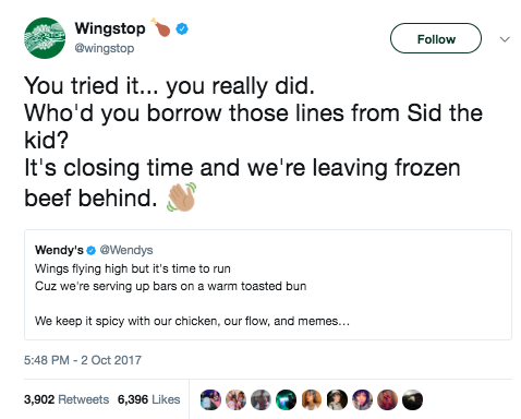 The final round came, and Wendy's definitely did not hold back: