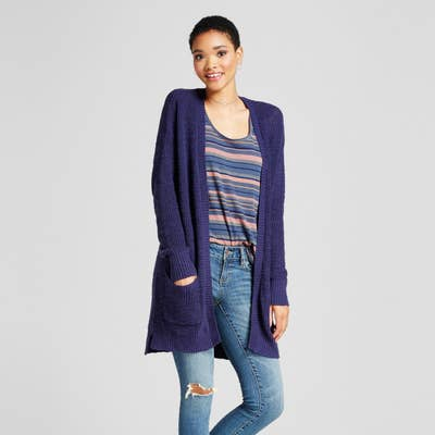 be32eb3e46 A simple stitch cardigan you can probably get away with wearing every day.