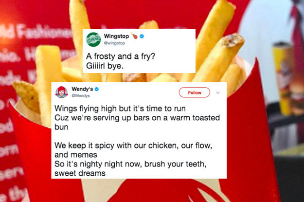 Wendy's And Wingstop Got Into An Epic Rap Battle On Twitter