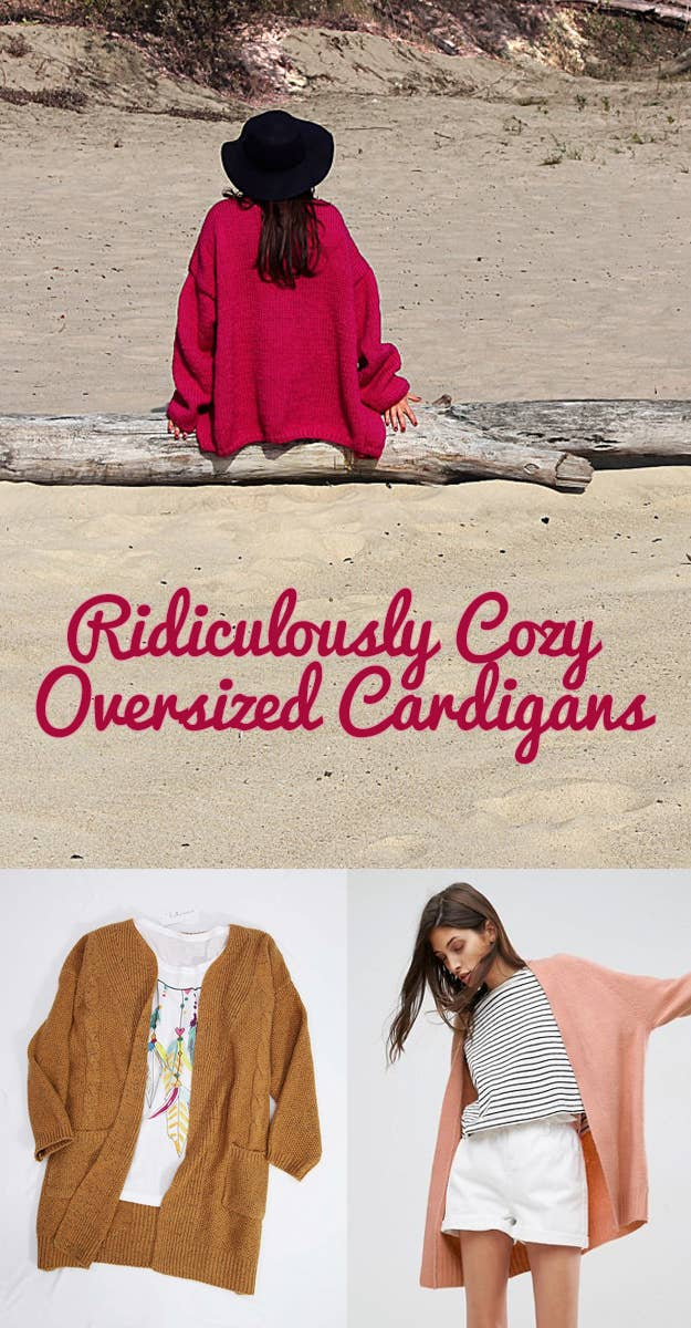 c6cecec6f 29 Ridiculously Cozy Oversized Cardigans To Wear All Autumn