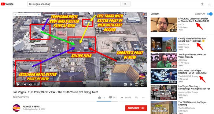 Here's How YouTube Is Spreading Conspiracy Theories About The Vegas