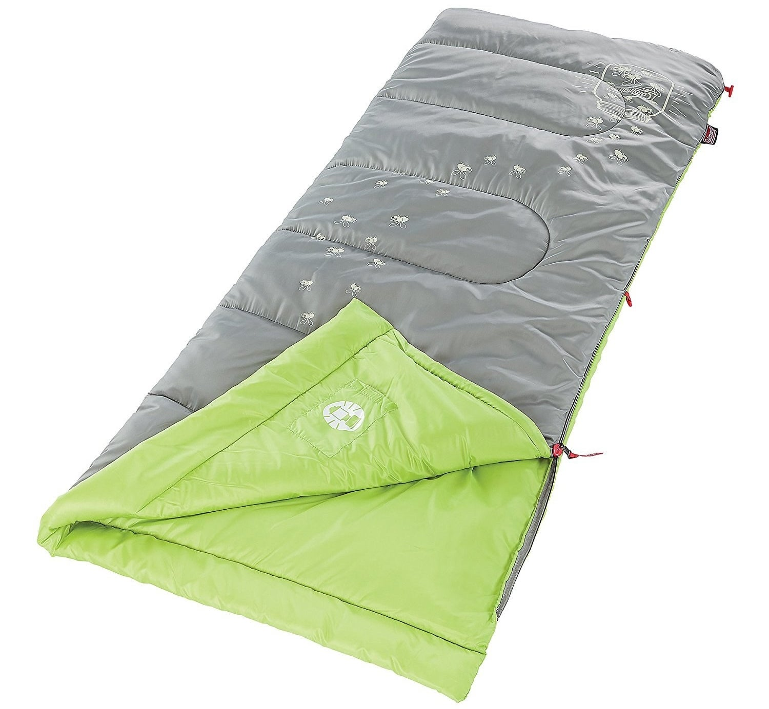 "This will keep kids warm even when it's 45°F outside. It weighs 2 lbs. and opens up to 72""x24"". It comes with an internal storage pouch and a stuff sack.Promising review: ""I bought this for my five-year-old son before our first camping trip. He LOVES it! I have to admit that I'm a little jealous that my sleeping bag isn't as adorable as this one! The lightning bugs glow in the dark long enough for him to go to sleep. He says it's very comfortable, too. It appears to be very good quality and kept him warm overnight in temps in the 40s. We loved it so much we purchased another for our eight-year-old son as well."" —LauraPrice: $26.16"