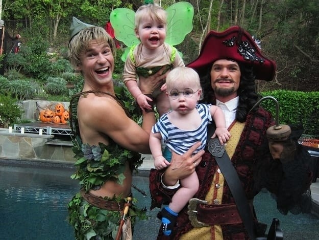 When they adorably dressed as Peter Pan, Tinker Bell, Smee, and Captain Hook from Peter Pan in 2011.