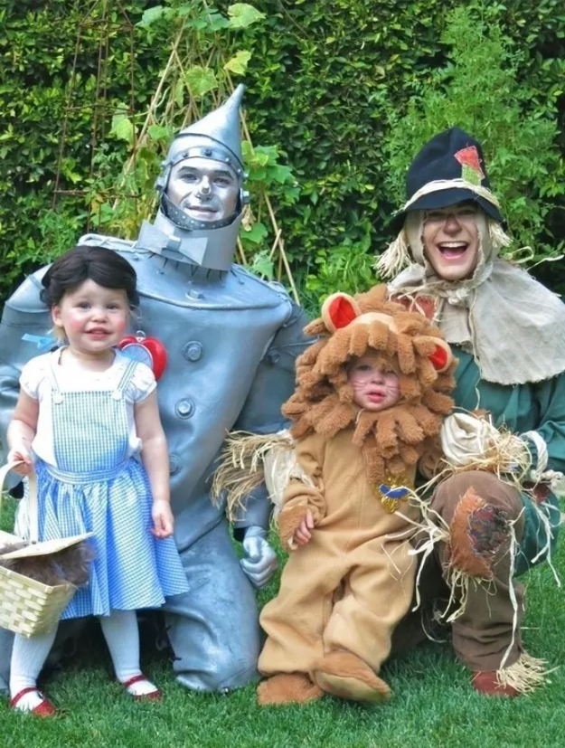 When they were too damn cute as Tin Man, Scarecrow, Dorothy, and The Lion from Wizard of Oz in 2012.