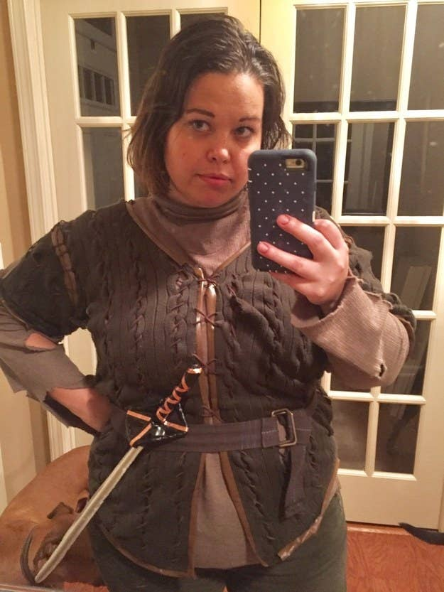 24 genius game of thrones costumes youll wish youd thought of sooner quotarya stark at got themed halloween party 2 years ago i cut solutioingenieria Choice Image