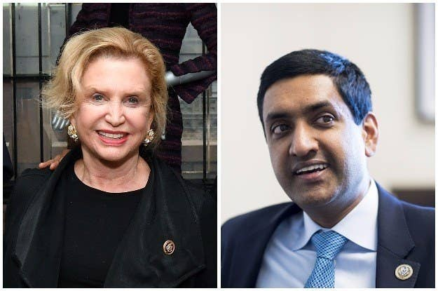 Democratic Reps. Carolyn Maloney, from New York, and Ro Khanna, from California