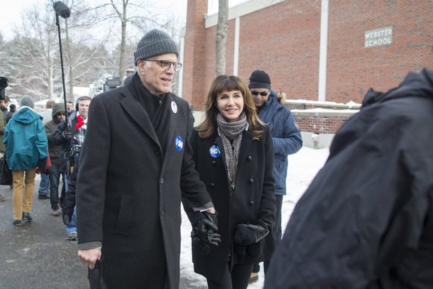 Plus, look at them campaign in the cold! A couple that practices democracy together, stays together.