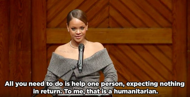 She is what we need right now: A literal humanitarian.