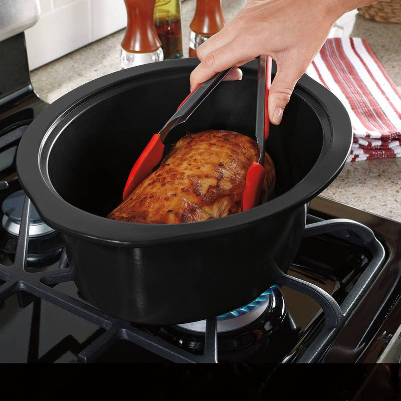 A Stovetop-safe slow cooker that allows you to sear right in it