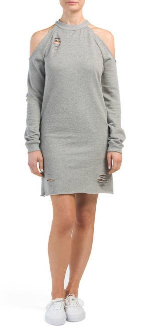 5760c3be3141 A sweatshirt dress to match your ~distress~ level (thank you