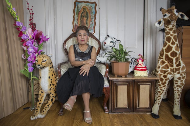 """""""I got the idea to shoot this series after a friend's mother asked me to take a portrait of her so she could send it to her family in Mexico. From there, I started working on the idea of doing a project about grandmothers, and I started doing it with close friends' abuelas I already knew,"""" Cinthya told BuzzFeed."""