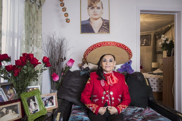 """""""Abuelas"""" is a portrait series starring undocumented Mexican grandmothers who remained largely invisible and undocumented for many years. These images show how these abuelas have made a place for themselves in their communities beyond the border."""