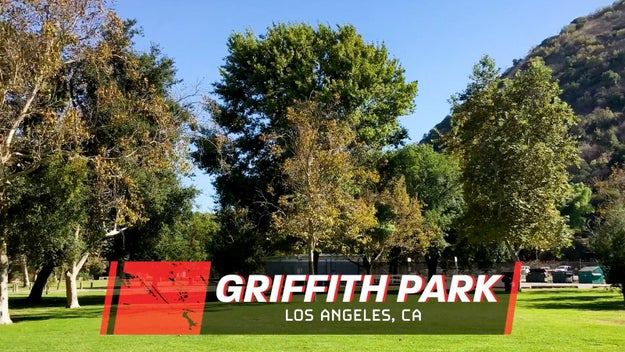We had our challenge in an open area at Griffith Park in Los Angeles. In order to succeed, I had enlisted some help.