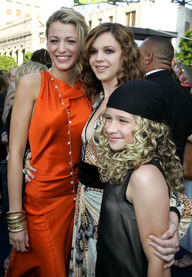 Here she is with co-stars Blake Lively and Amber Tamblyn at the film's premiere in 2005, rocking a LOOK: