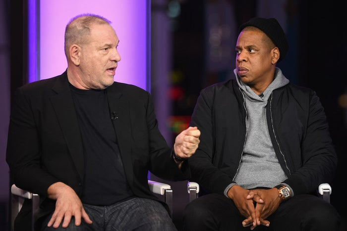 Weinstein and Jay-Z have a personal and professional relationship. In 2016, The Weinstein Co. and Jay-Z signed an exclusive film and TV deal together that would lead Weinstein and Jay to work on a number of projects together.