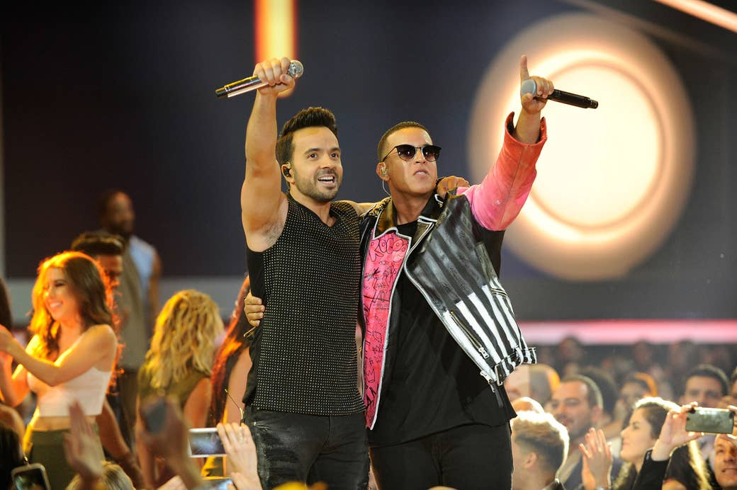 Luis Fonsi and Daddy Yankee perform at the Billboard Latin Music Awards on April 27 in Coral Gables, Florida.