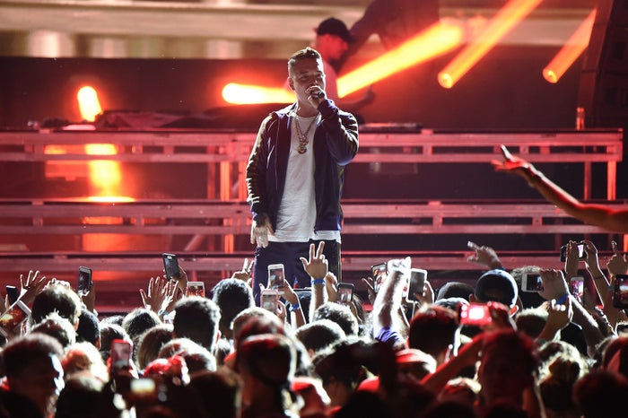 J Balvin performs with Major Lazer during the second day of the 2017 Billboard Hot 100 Festival on Aug. 20 in Wantagh, New York.