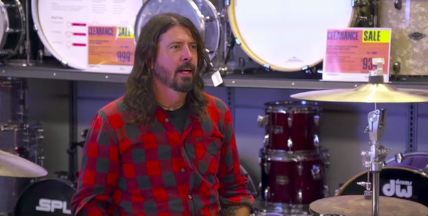 "The band's famous frontman, Dave Grohl, agreed that the shoot was ""a little uncomfortable."""