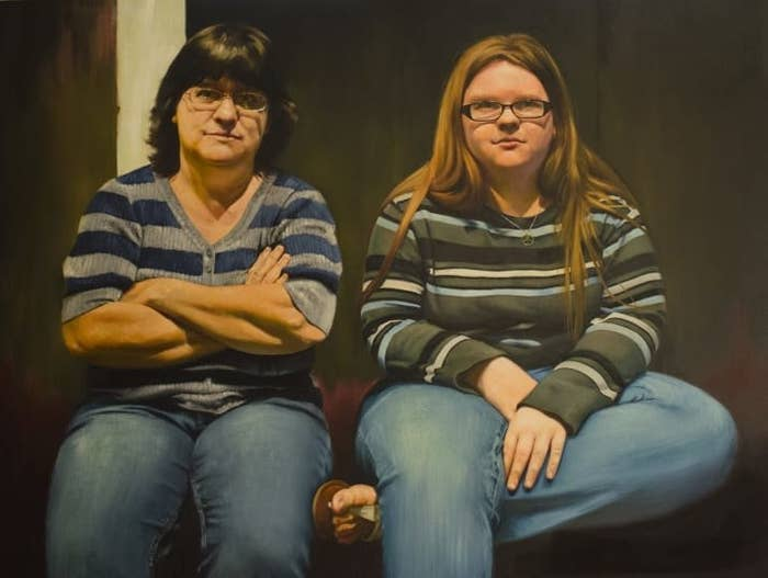 """Candice's painting My Mother and Her Daughter 