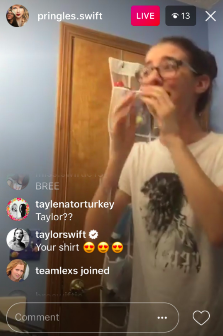 But the New Taylor Swift is here to stay — and according to some screenshots that have just surfaced, she's been spending a lot of time Insta-creeping on her fans.