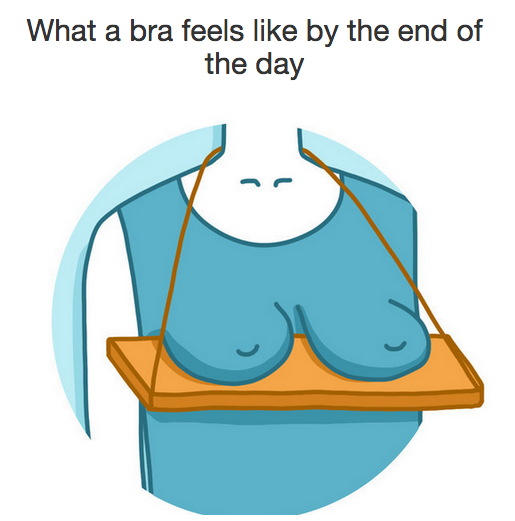 This feeling after a long hard day of wearing a bra: