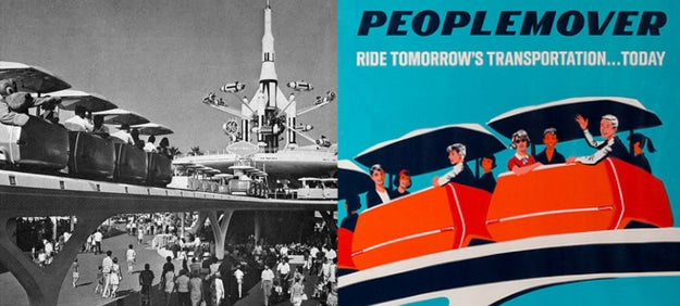 Disneyland's PeopleMover ride was only open for a month before a teen died while trying to jump from car to car in 1967.