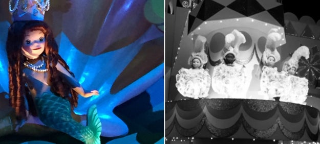 A Disneyland Paris employee was trapped under a boat when the It's A Small World ride turned on while he was cleaning it.