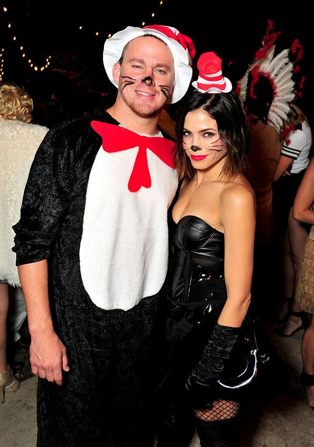 Channing Tatum and Jenna Dewan as the Cat in the Hat.