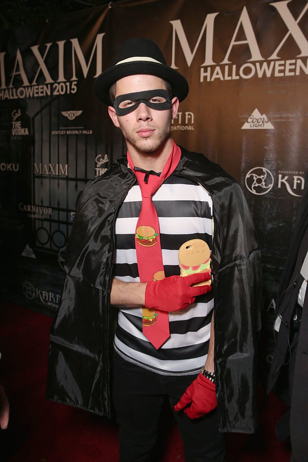 Nick Jonas as Hamburglar.