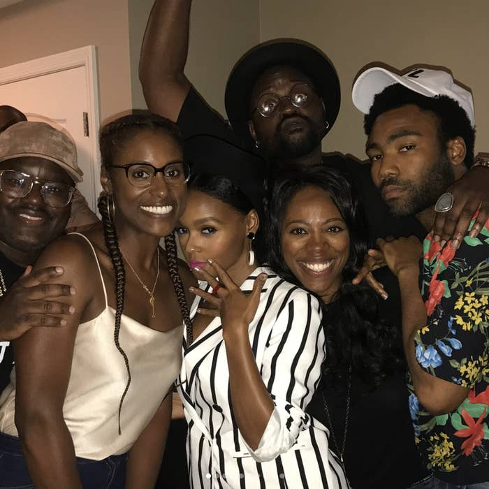 Yes, that's Lil Rel Howery. Yes, that's Brian Tyree Henry. Yes, that's Donald Glover. And yes, that's Janelle Frickin' Monae.