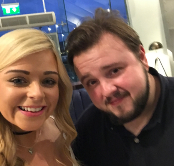 She also managed to get a selfie with John Bradley, who plays Samwell Tarly, which is lucky since other fans have revealed that the cast have said they're not allowed to take selfies with fans this year.