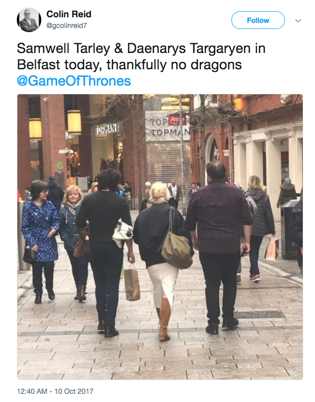 And the pair were also seen out and about in Belfast with John Bradley.