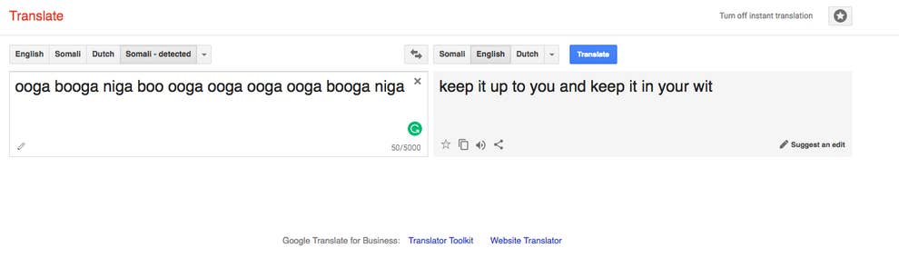 Google Translate Thinks