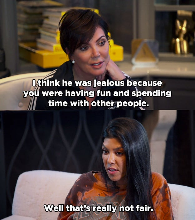 But later in the episode, after she got back from Mexico, Kourtney opened up to Kris about how she feels Scott won't allow her to move on.