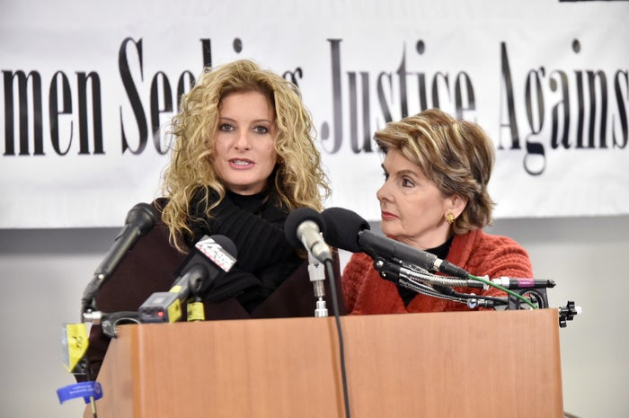 Summer Zervos and Gloria Allred in January 2017 in Washington, DC.
